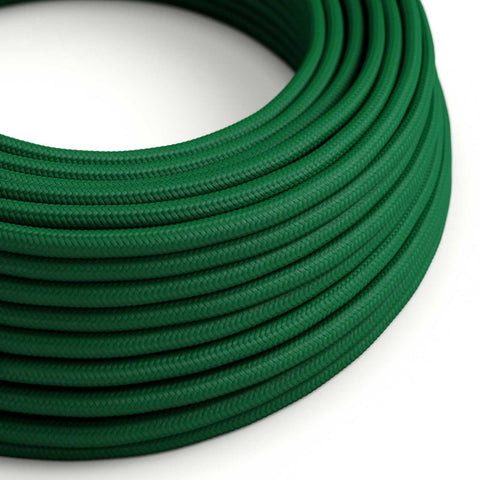 Eddie & Sons Round Fabric Cable - Racing Green (5 Meter Length)