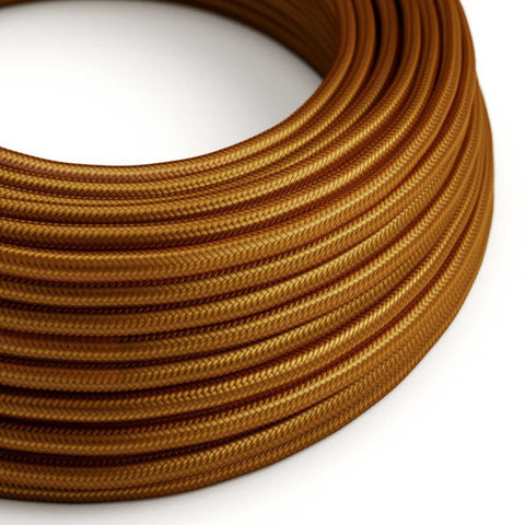 Eddie & Sons Round Fabric Cable - Whiskey Bronze (5 Meter Length)