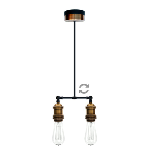 Pype Single Drop Double Head Ceiling Pendant
