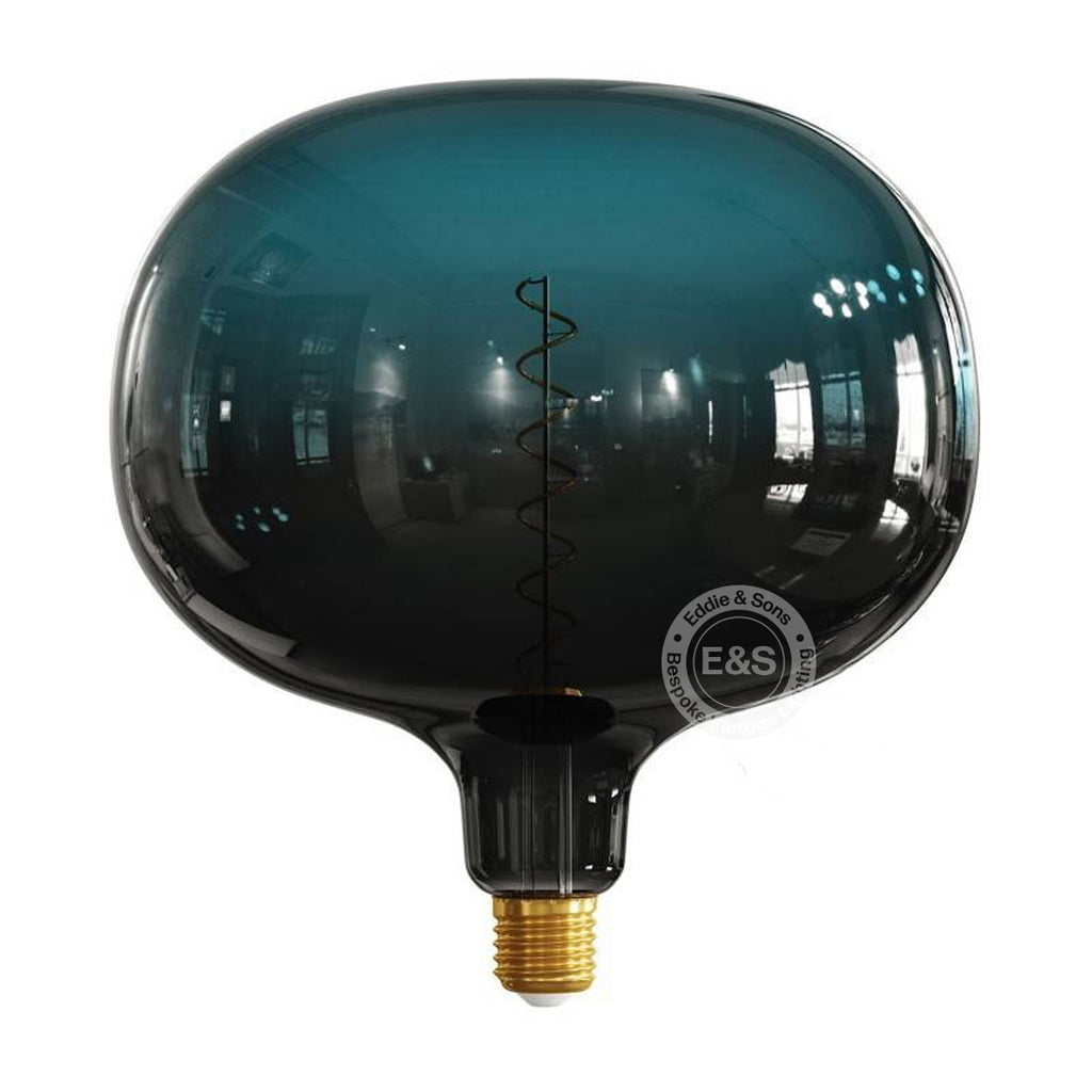 Oval Pop Dark Blue Pastel EXTRA LARGE light bulb, 4W E27 Dimmable 2200K