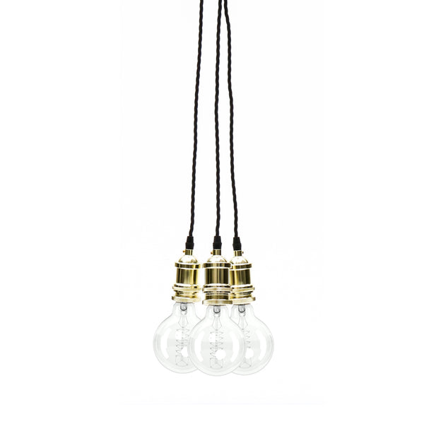 Eddie and Sons 3 Drop Champagne Gold Vintage Pendant Cluster