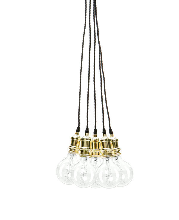 Eddie and Sons 5 Drop Champagne Gold Vintage Pendant Cluster