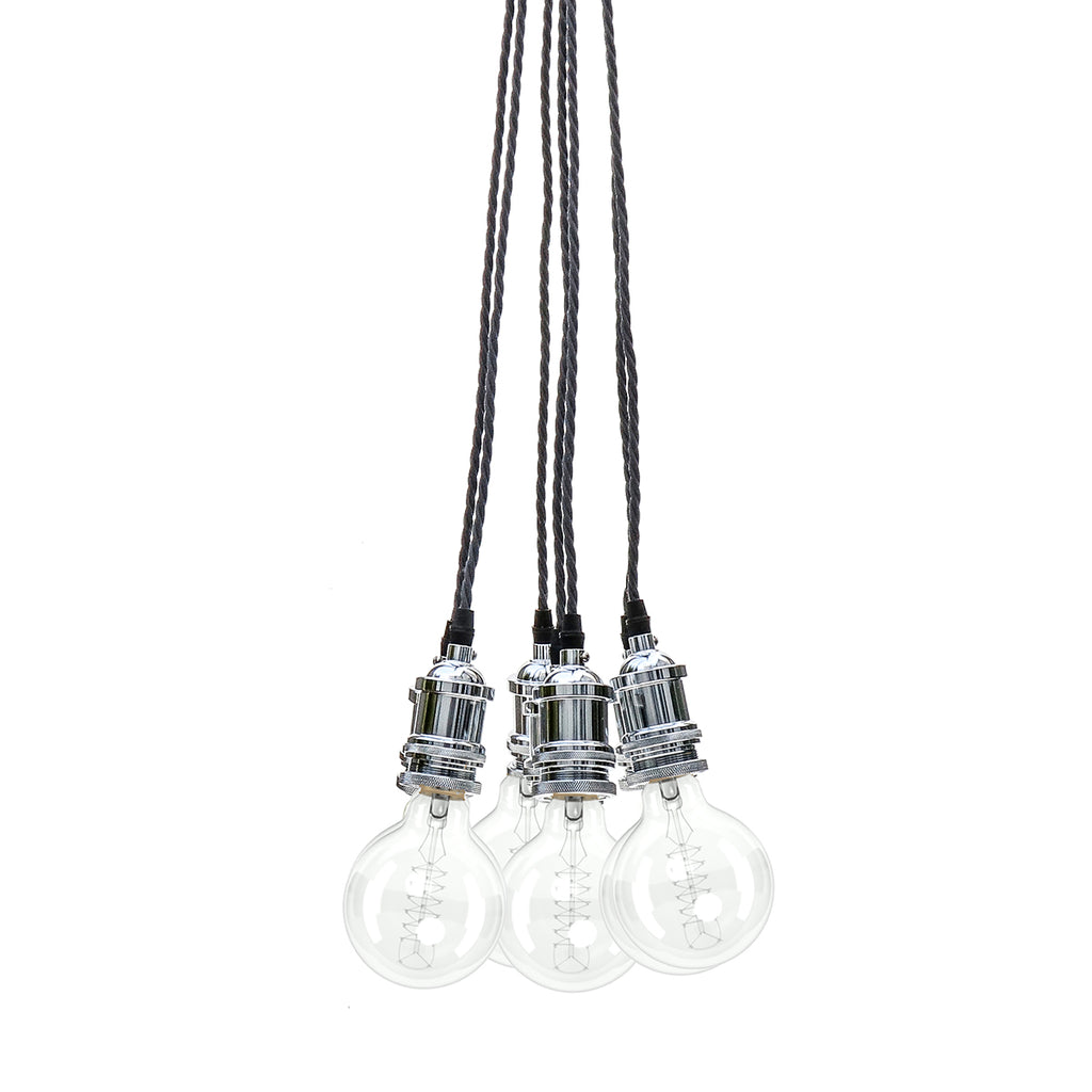 Eddie and Sons 7 Drop Chrome Vintage Pendant Cluster