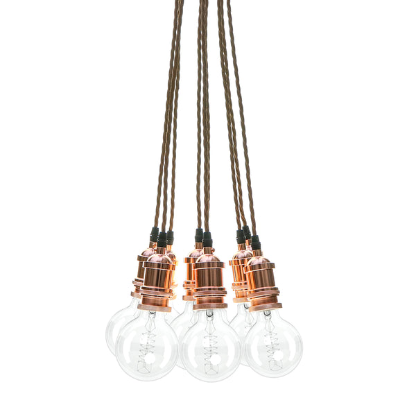 Eddie and Sons 9 Drop Rose Copper Vintage Pendant Cluster