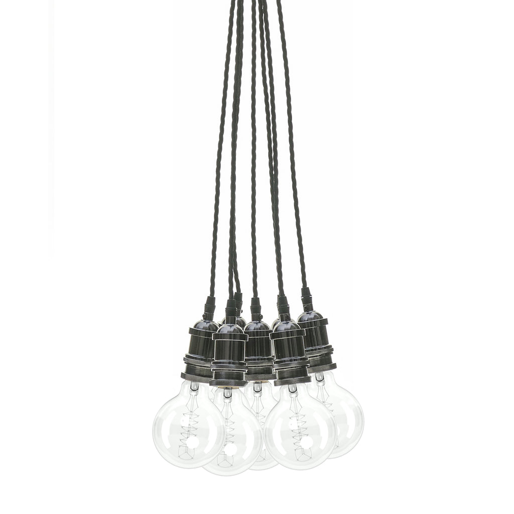 Eddie and Sons 7 Drop Gun Metal Vintage Pendant Cluster