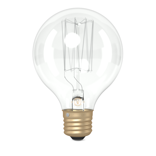 G80 Small Globe Squirrel Cage Filament Vintage Light Bulb (E27 FITTING)