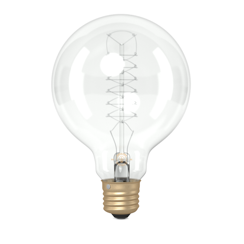 G95 Medium Globe Spiral Loop Filament Vintage Light Bulb (E27 FITTING)