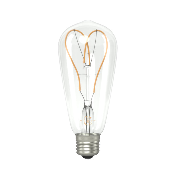 Eddie & Sons ST64 Large Tear Drop Heart Shaped LED filament Bulb 4W