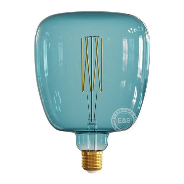 Square Pop Blue Pastel Light Bulb, 4W E27 Dimmable 2200K