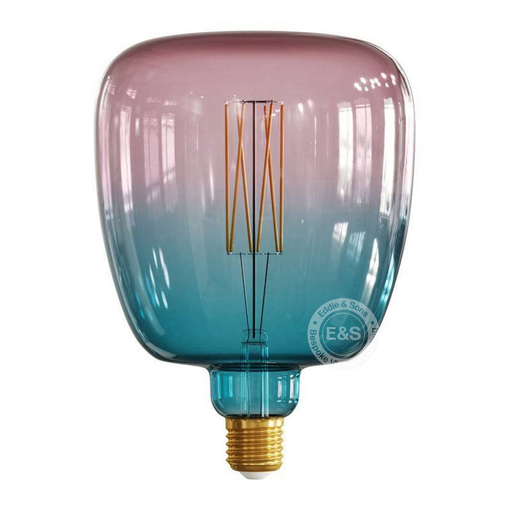 Square Pop Pink and Blue Gradient Pastel light bulb, 4W E27 Dimmable 2200K