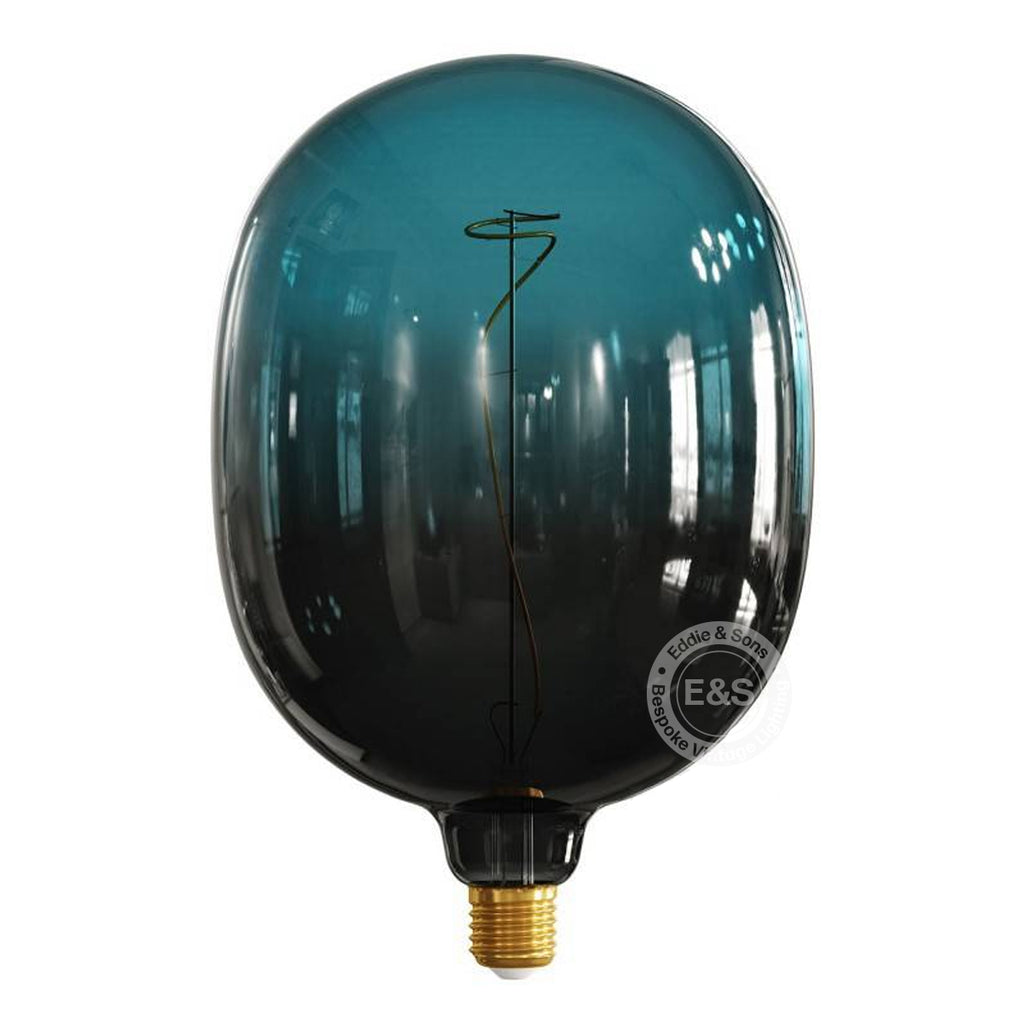 Balloon Pop Dark Blue Pastel EXTRA LARGE light bulb, 4W E27 Dimmable 2200K