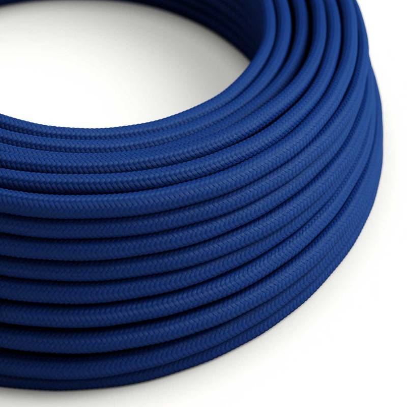 Eddie & Sons Round Fabric Cable - Royal Blue (5 Meter Length)