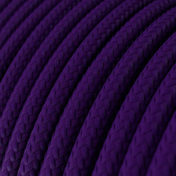 Eddie & Sons Round Fabric Cable - Violet (5 Meter Length)
