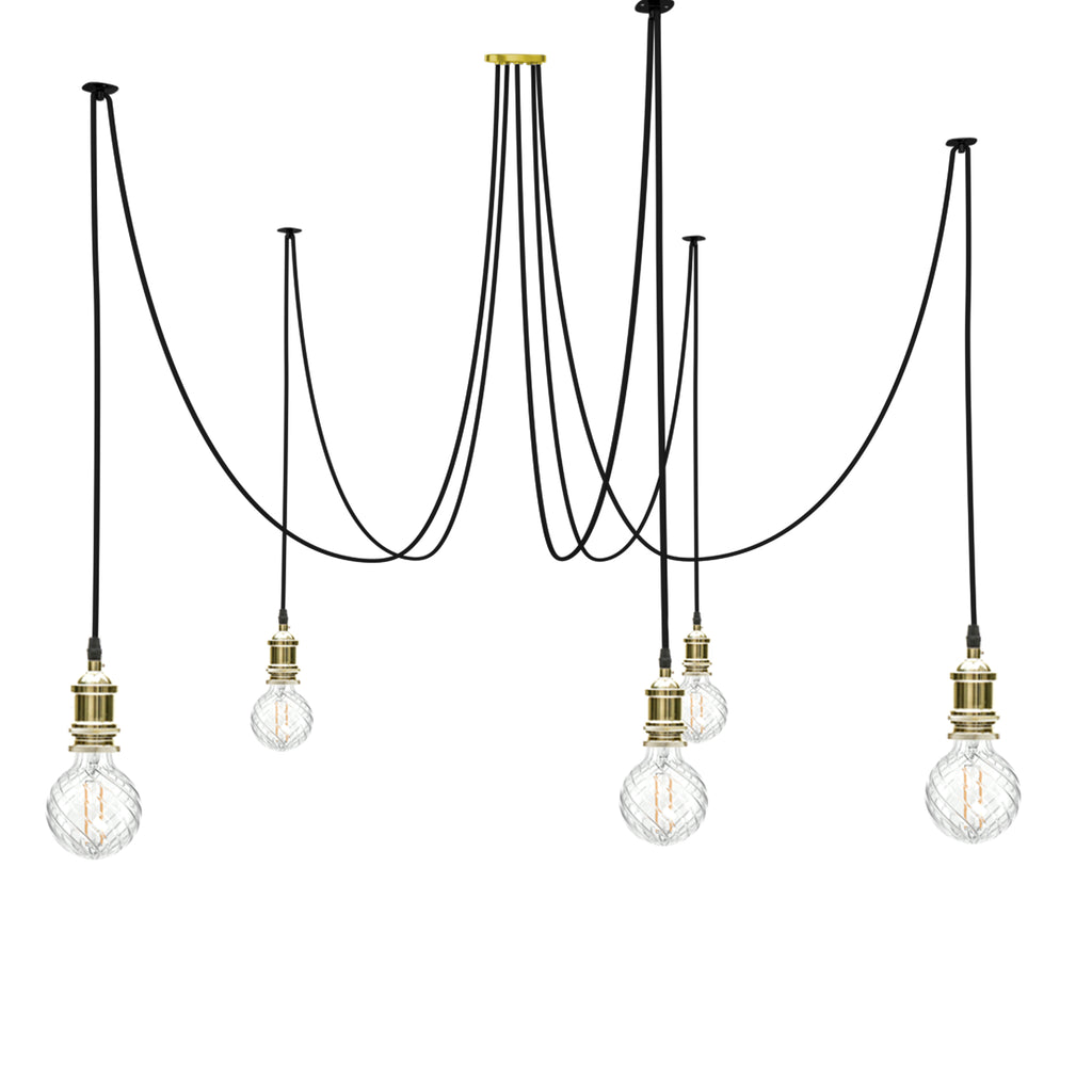 Eddie and Sons 5 Drop French Gold Spider Light