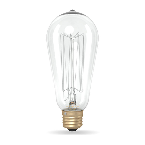 ST64 Large Tear Drop Squirrel Cage Filament Vintage Light Bulb (E27 FITTING)