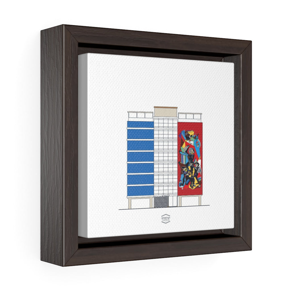 Viulma Building, Libertador Avenue - Framed Canvas