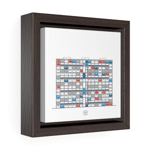 23 de Enero Superblocks - Framed Canvas