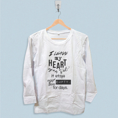 Long Sleeve T-shirt - 1D Midnight Memories
