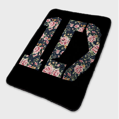 1D One Direction Floral Fleece Blanket
