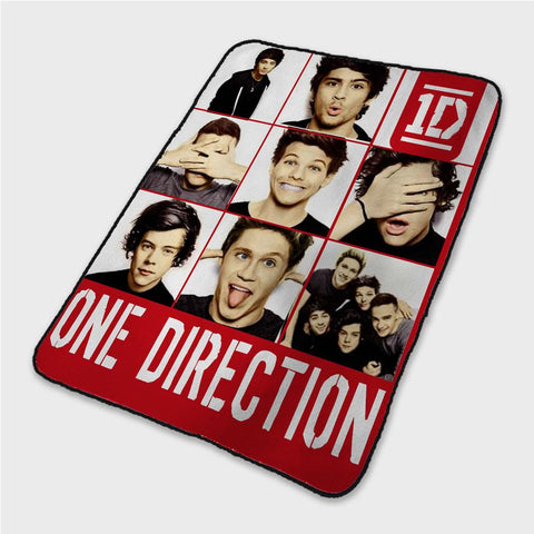 1D One Direction Funny Face Collage Fleece Blanket