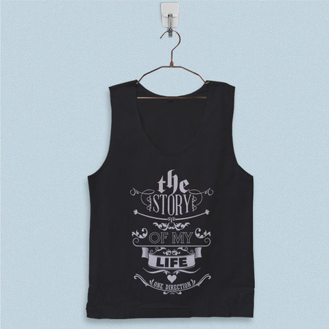 Men's Basic Tank Top - 1D Story of My Life Lyric