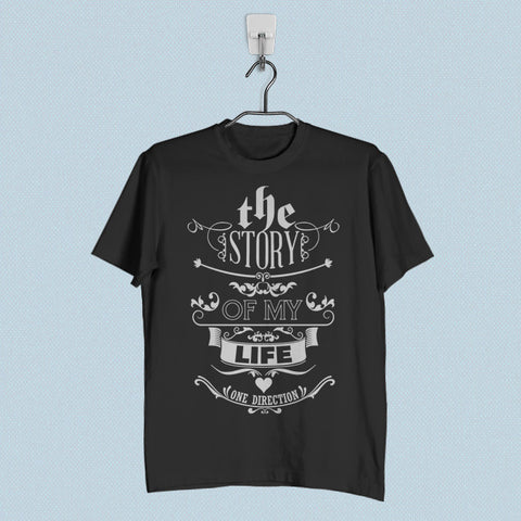 Men T-Shirt - 1D Story of My Life Lyric