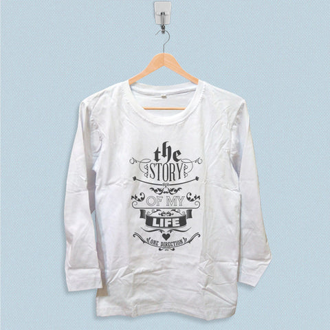 Long Sleeve T-shirt - 1D Story of My Life Lyric
