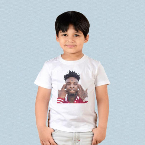 Kids T-shirt - 21 Savage Face