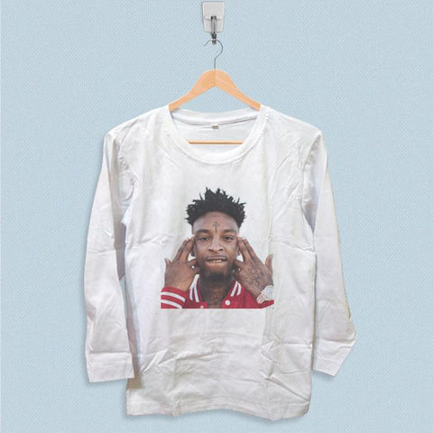 Long Sleeve T-shirt - 21 Savage Face