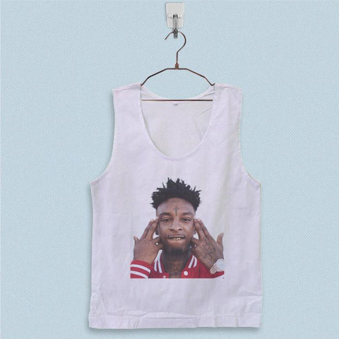Men's Basic Tank Top - 21 Savage Face