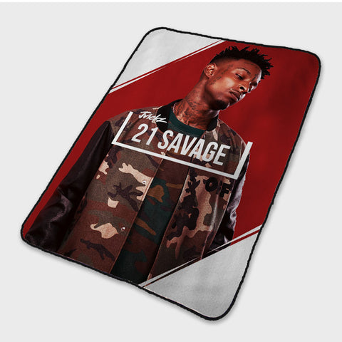 21 Savage Poster Fleece Blanket