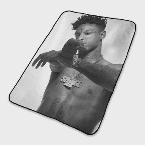 21 Savage Style Fleece Blanket