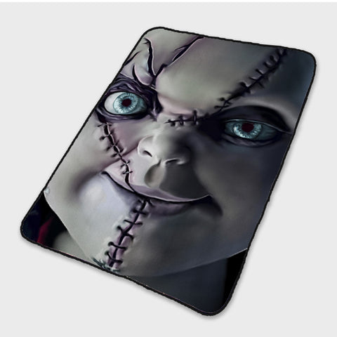 3D Horror Movie Chucky Face Fleece Blanket