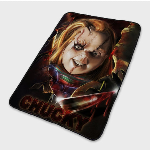 3D Horror Movie Chucky Sherpa Poster Fleece Blanket