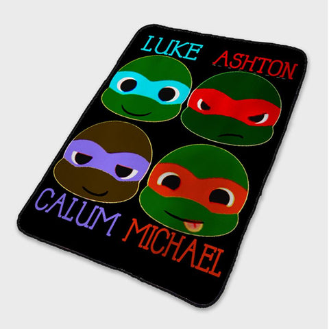 5 Second Of Summer Ninja Turtles Fleece Blanket
