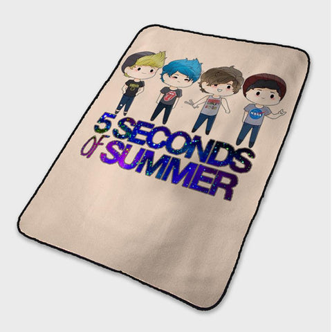 5 Second of Summer 5SOS Cartoon Fleece Blanket