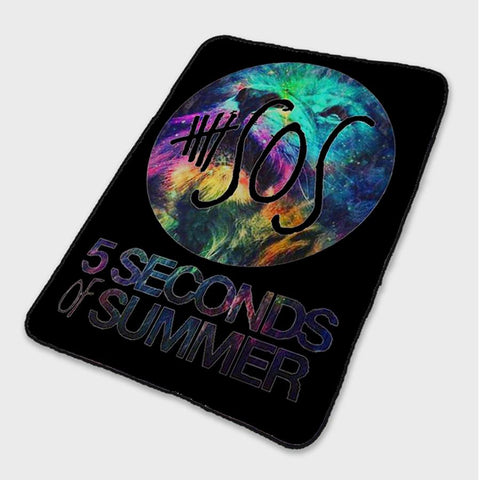 5 Second of Summer Galaxy Leon Fleece Blanket
