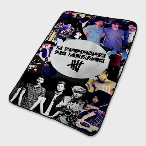 5 Seconds Of Summer 5SOS Logo Collage Fleece Blanket