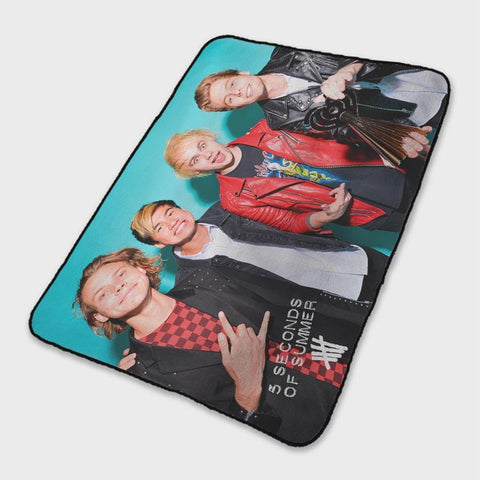 5 Seconds of Summer 2018 Fleece Blanket