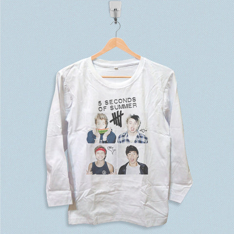 Long Sleeve T-shirt - 5 Seconds of Summer Band
