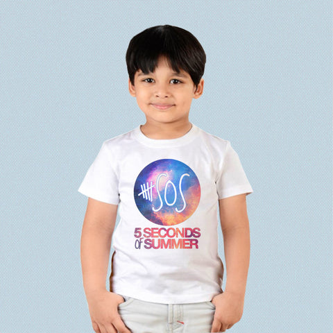Kids T-shirt - 5 Seconds of Summer Logo on Galaxy