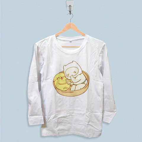 Long Sleeve T-shirt - Adventure Time Baby Jake and Finn