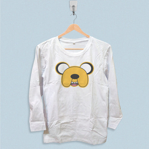 Long Sleeve T-shirt - Adventure Time Finn Face