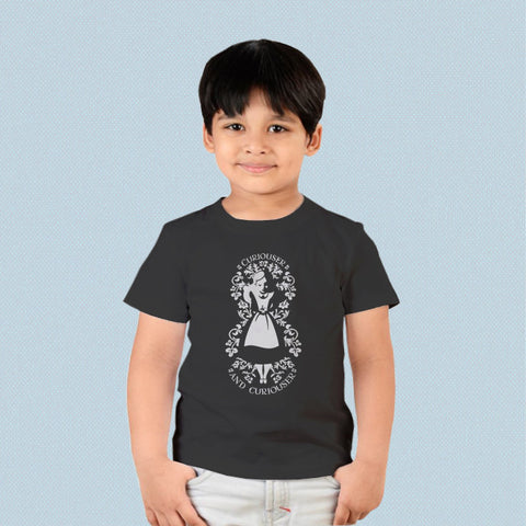 Kids T-shirt - Alice in Wonderland Curiouser and Curiouser 2