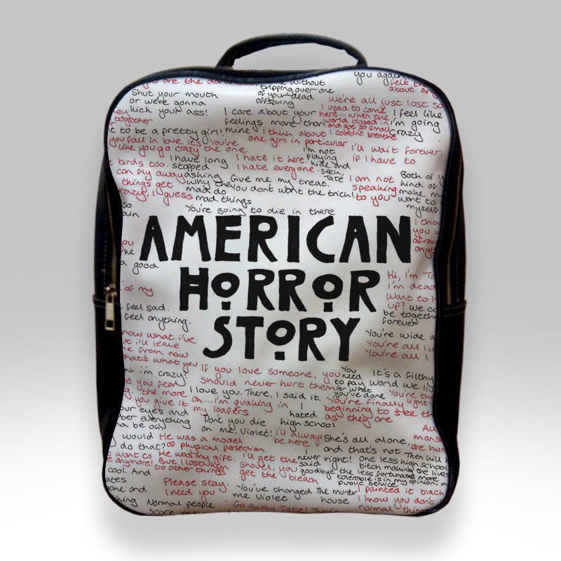 abc6c4b027f1 Backpack for Student - American Horror Story Quotes Bags – Teeshopee