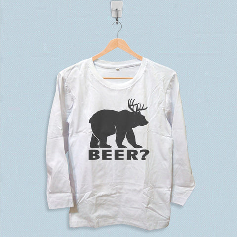 Long Sleeve T-shirt - Beer Deer