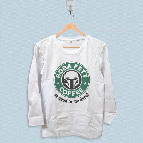 Long Sleeve T-shirt - Boba Fetts Coffee Logo