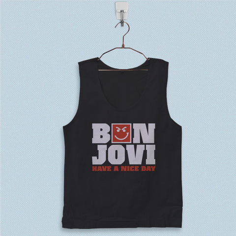 Men's Basic Tank Top - Bon Jovi Have a Nice Day