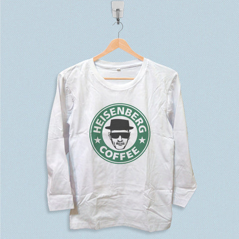 Long Sleeve T-shirt - Breaking Bad Heisenberg Coffee