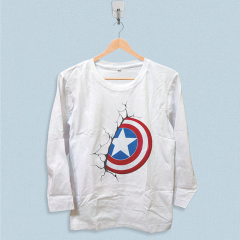 Long Sleeve T-shirt - Captain America Logo